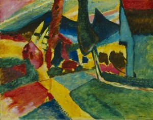 Wasilly_Kandinsky,_1912,_Landscape_With_Two_Poplars,_78.8_x_100.4_cm,_The_Art_Institute_of_Chicago